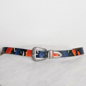Urban Outfitters Snake Print Western Belt